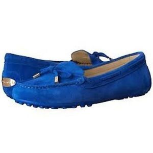 Michael Kors Daisy Moccasin Suede Blue Loafer